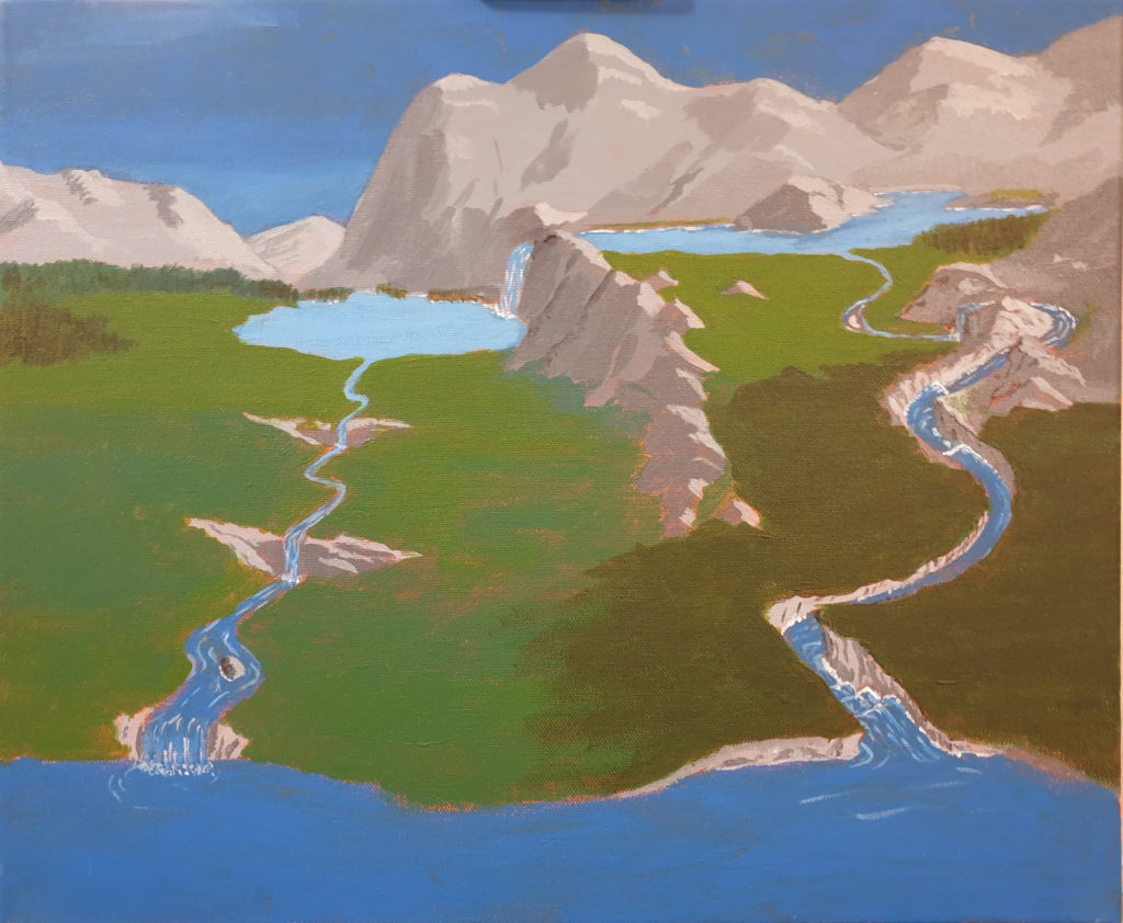 """Work in progress of my """"impossible nature painting"""""""